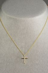 Roberto Coin Cross Necklace - Lyst