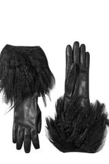 Simonetta Ravizza Mongolian and Kidassia Fur Nappa Gloves - Lyst