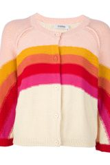 Sonia By Sonia Rykiel Striped Knit Cardigan - Lyst