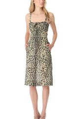 Sonia Rykiel Leopard Cutout Pencil Dress - Lyst