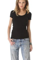 Splendid 1x1 Scoop Tee - Lyst