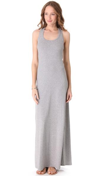Splendid Maxi Tank Dress in Gray | Lyst