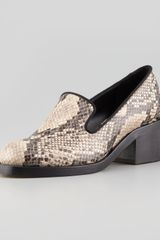 Stella McCartney Faux Snake Loafer - Lyst