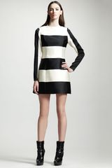 Stella McCartney Striped Contourseam Dress - Lyst
