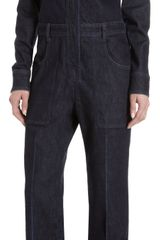 Stella McCartney Denim Jumpsuit - Lyst