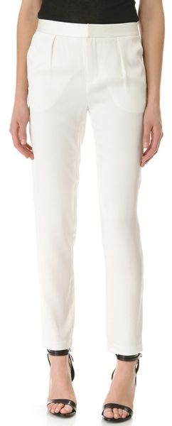 T By Alexander Wang Shiny Crepe Peg Trousers - Lyst