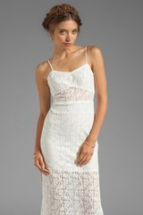 Testament Crochet Maxi Dress in White - Lyst