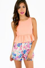 Tobi Rachels Ruffle Bottom Crop Top - Lyst
