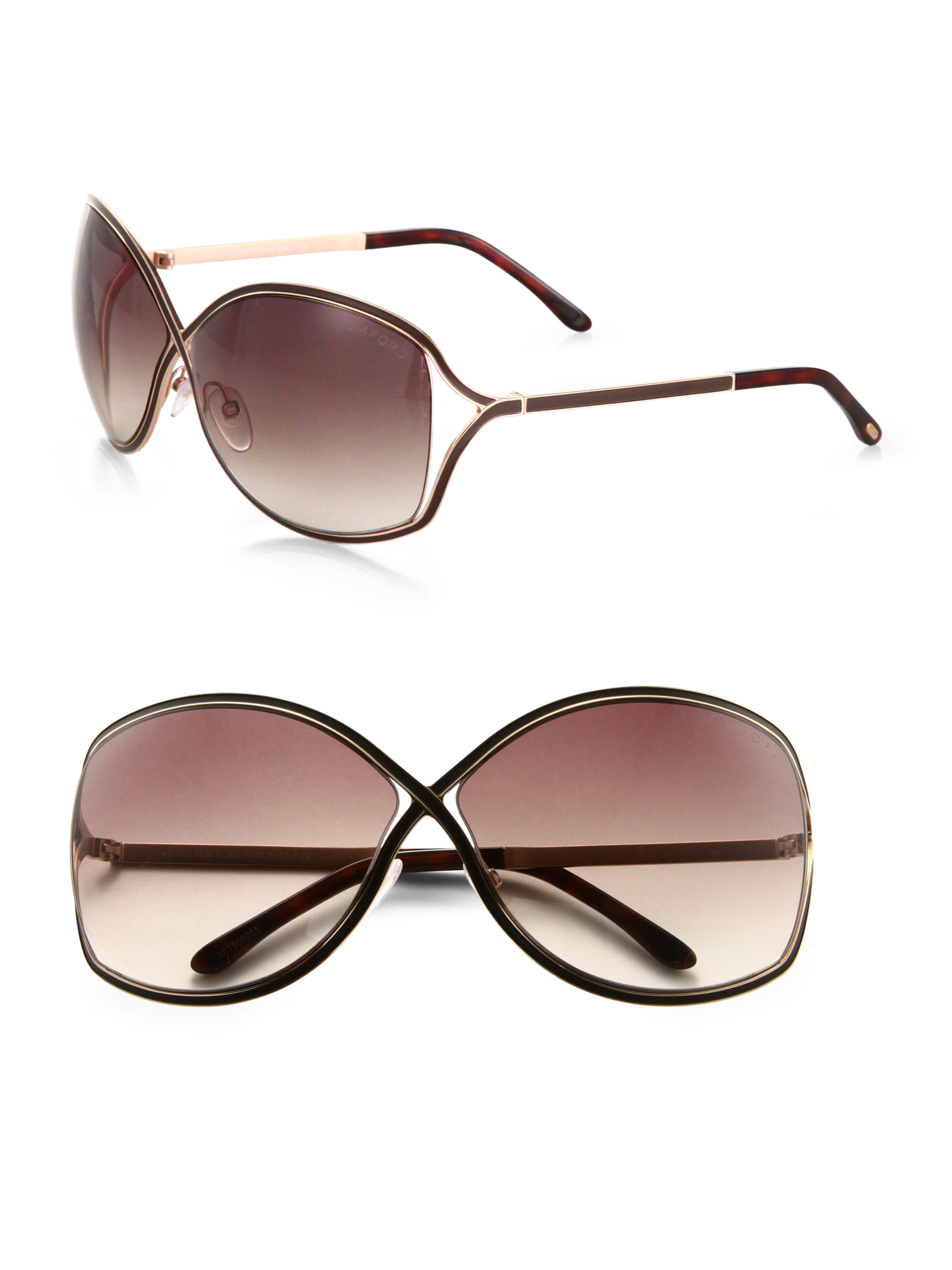 Oversized Oval Sunglasses  tom ford rickie oversized oval sunglasses in brown lyst