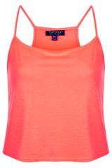 Topshop Fluorescent Crop Cami Top - Lyst