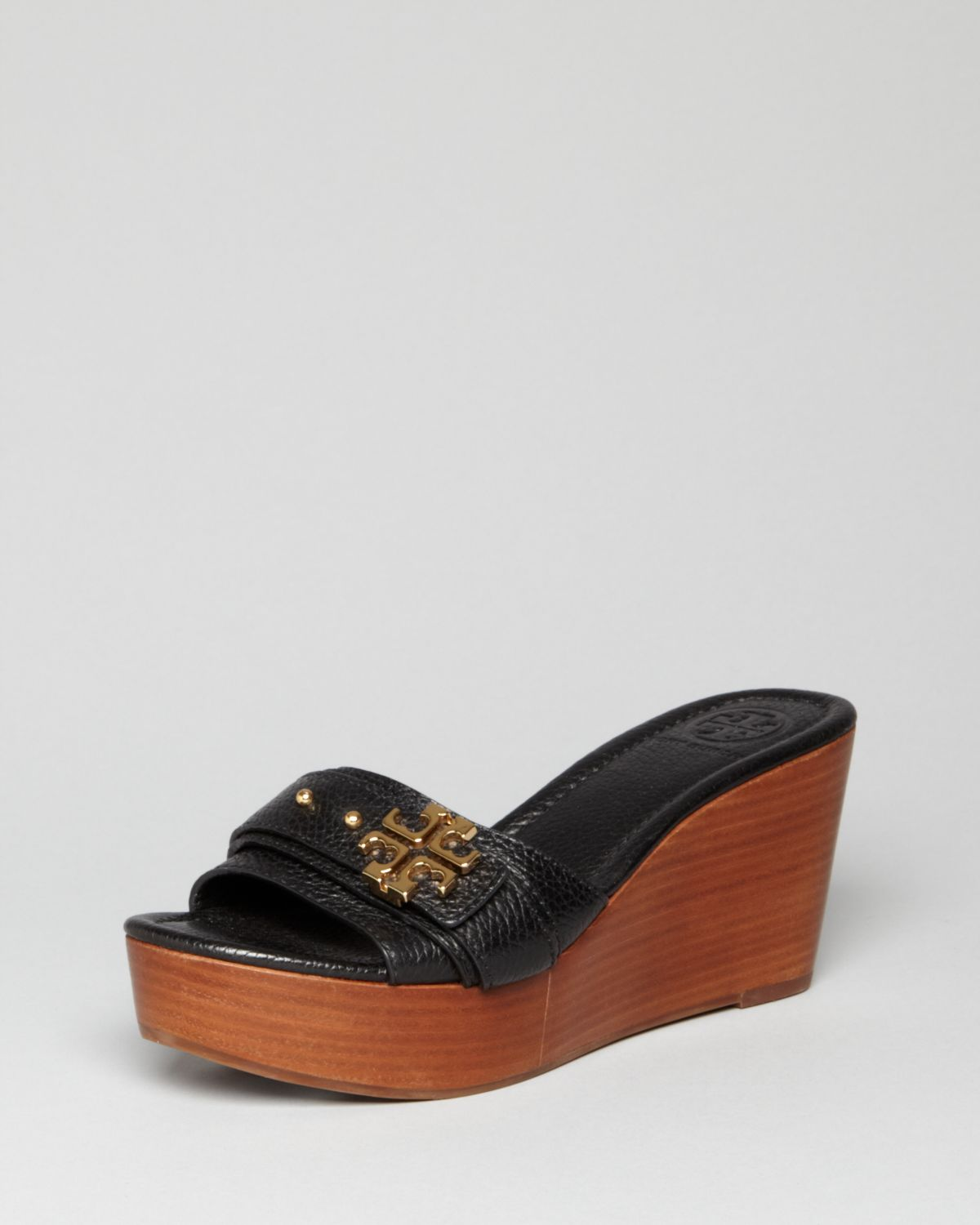 Tory Burch Platform Wedge Sandals Elina In Black Lyst