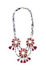 Tory Burch Multi Strand Puka Shell with Mirror Necklace - Lyst