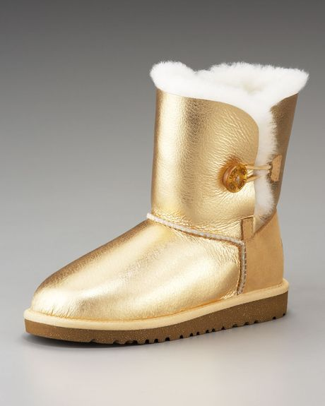 ugg boots bailey button gold