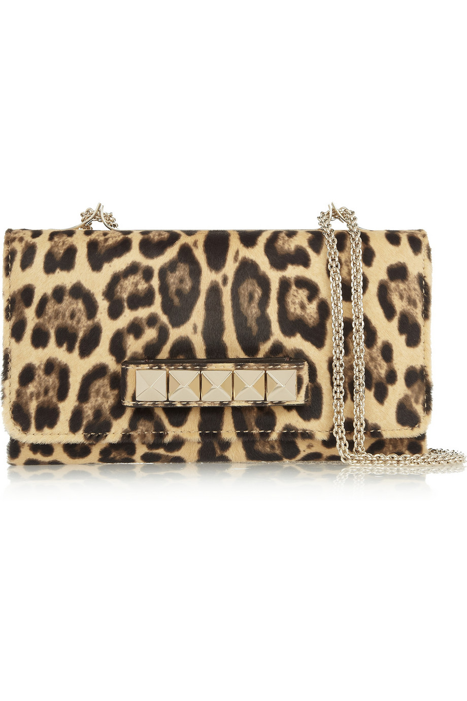 valentino va va voom calf hair shoulder bag in animal leopard print lyst. Black Bedroom Furniture Sets. Home Design Ideas