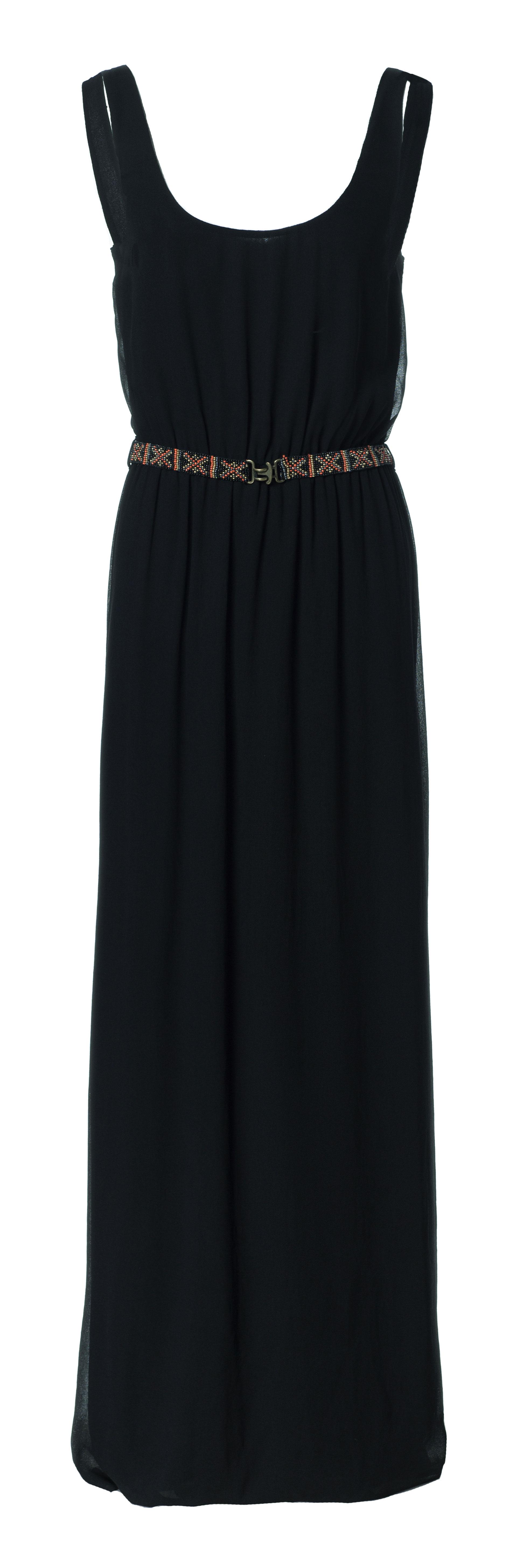 zara dress with beaded belt in black lyst