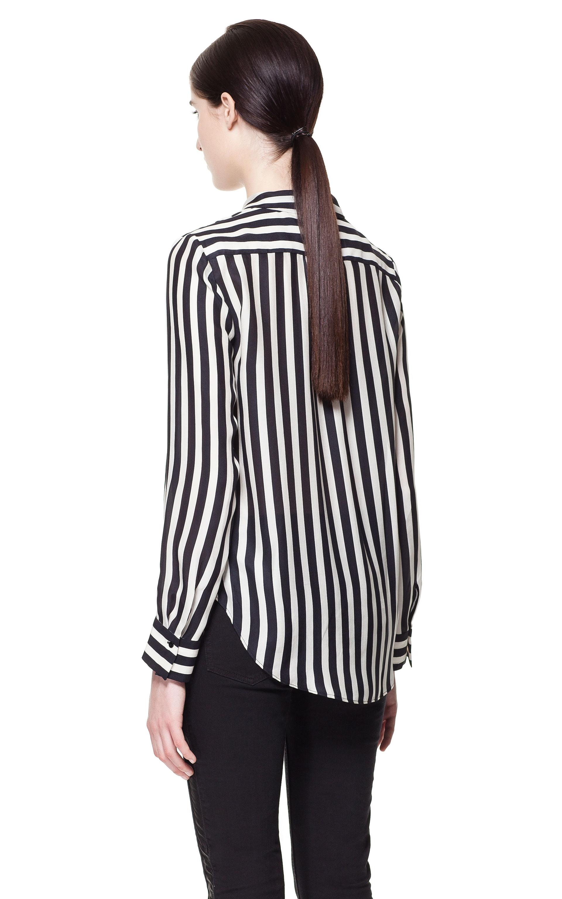 Zara White Wrap Blouse 6