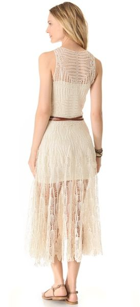 Zimmermann Elixir Crochet Cover Up Dress in Beige - Lyst