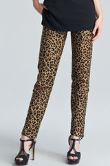 3.1 Phillip Lim Leopardprint Cropped Pencil Trousers - Lyst