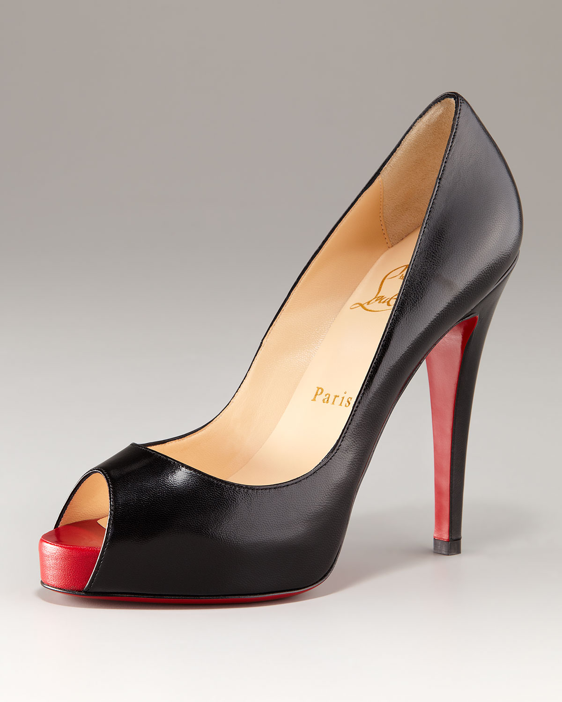 87a28e4b3e08 ... promo code lyst christian louboutin very prive open toe platform pump  in black 20b27 ffe05 ...