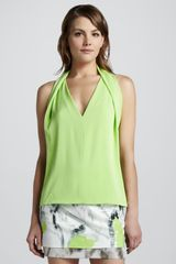 Diane Von Furstenberg Reagan Draped Sleeveless Top Melon - Lyst