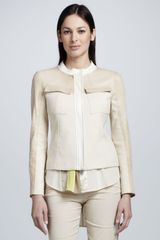DKNY Tweed Leathercoated Jacket - Lyst