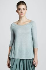 Donna Karan New York Cashmere Trapeze Top Aquamint - Lyst