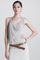 Donna Karan New York Tissue Jersey Double Layer Tank - Lyst
