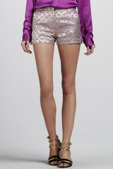 Elizabeth And James Tristan Brocade Shorts - Lyst