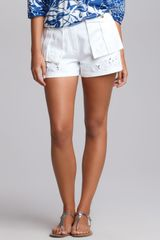 Emilio Pucci Butterfly embroidered Shorts - Lyst