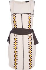 Fendi Bow Patterned Dress - Lyst