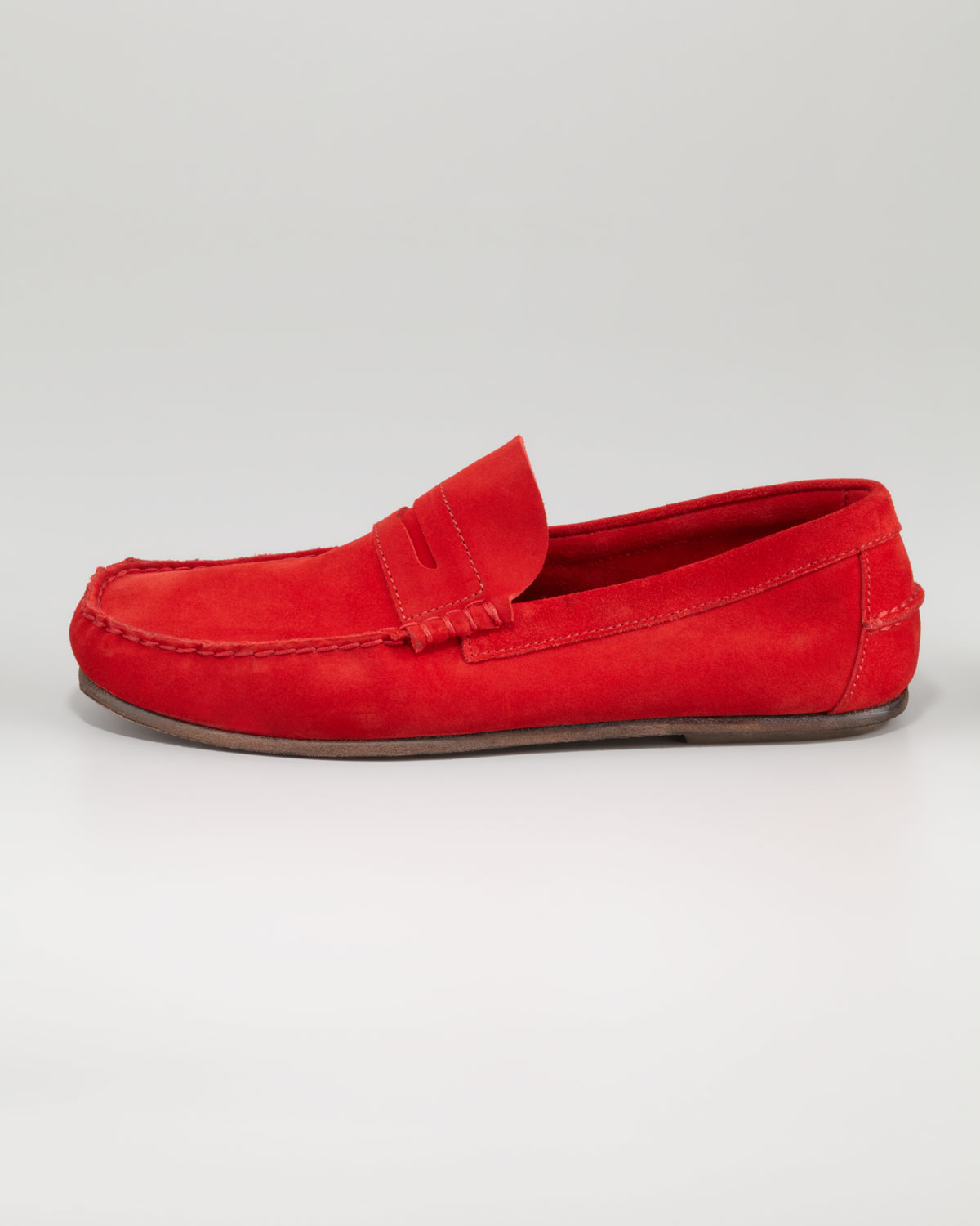 c65522601d0 Lyst - Florsheim by Duckie Brown Suede Penny Loafer Red in Red for Men