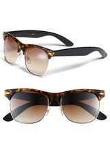 Icon Eyewear Gloria Retro Half Wire Frame Sunglasses - Lyst