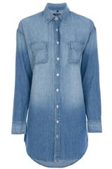 J Brand Faded Denim Shirt - Lyst