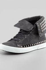 Jimmy Choo Spencer Mens Studded Flannel Hightop Sneaker - Lyst