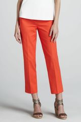 Lafayette 148 New York Bleecker Cropped Pants Day Glow - Lyst