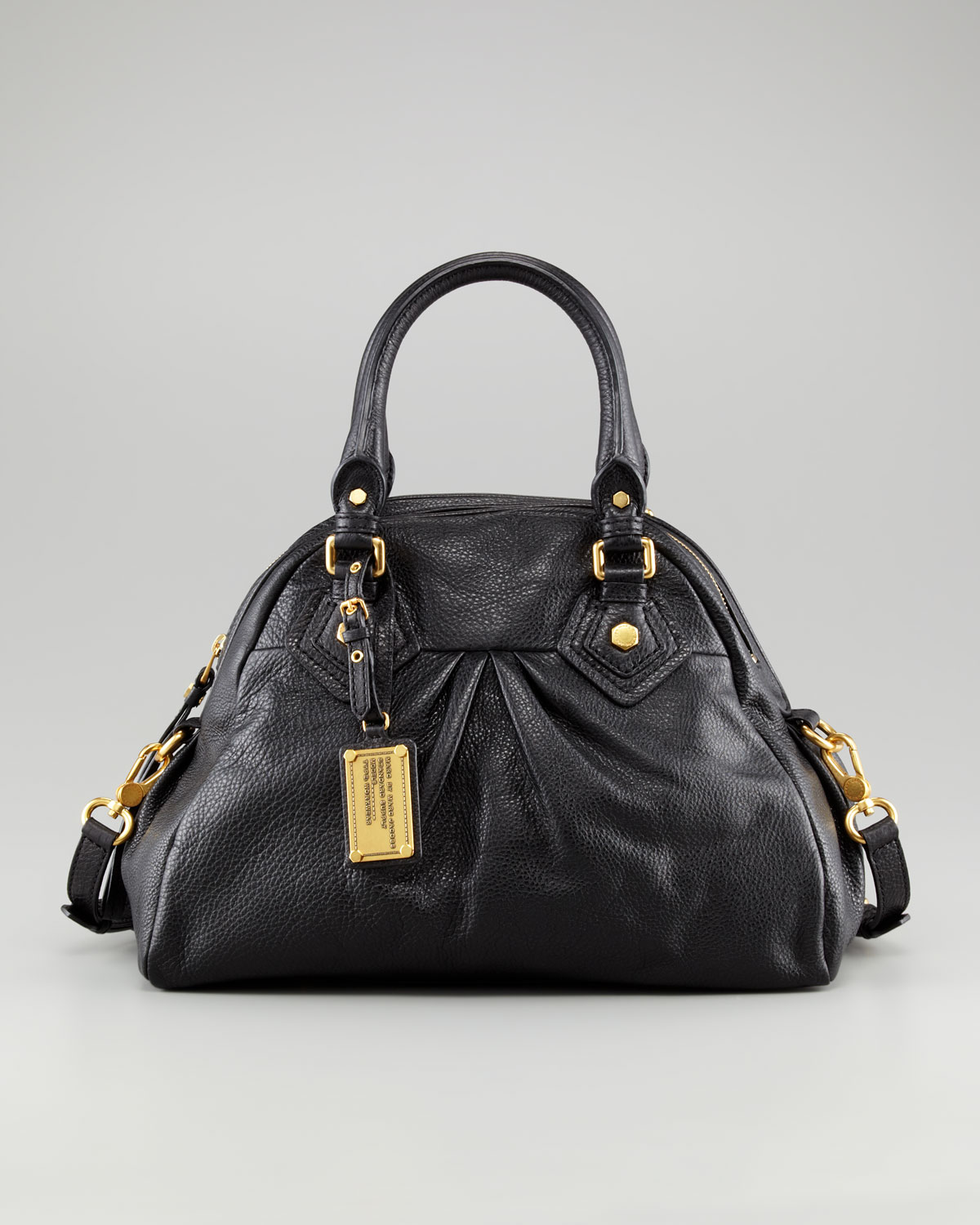 ad46bf99baa3 Marc By Jacobs Baby Aidan Satchel Bag Black In Lyst