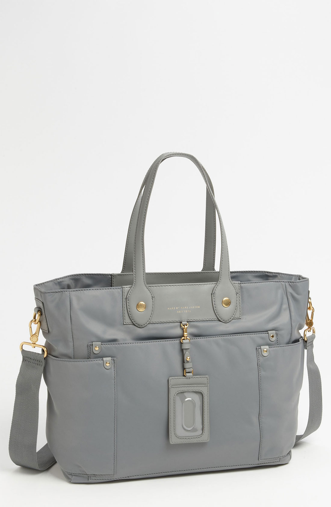 marc by marc jacobs preppy nylon elizababy diaper bag in gray storm cloud lyst. Black Bedroom Furniture Sets. Home Design Ideas