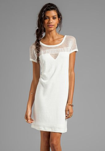 Marc By Marc Jacobs Texture Tee Linen Dress in White - Lyst