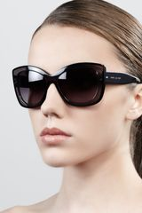 Marc Jacobs Thickrim Cateye Sunglasses Grayblack - Lyst