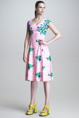 Marc Jacobs Dot Floral Print Dress - Lyst