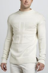 McQ by Alexander McQueen Textured Union Jack Sweater - Lyst
