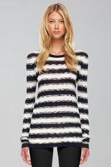 Michael Kors Striped Knit Sweater - Lyst