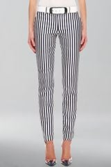 Michael Kors Striped Shantung Pants - Lyst