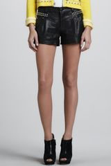 Nanette Lepore Boom Boom Leather Studded Shorts - Lyst
