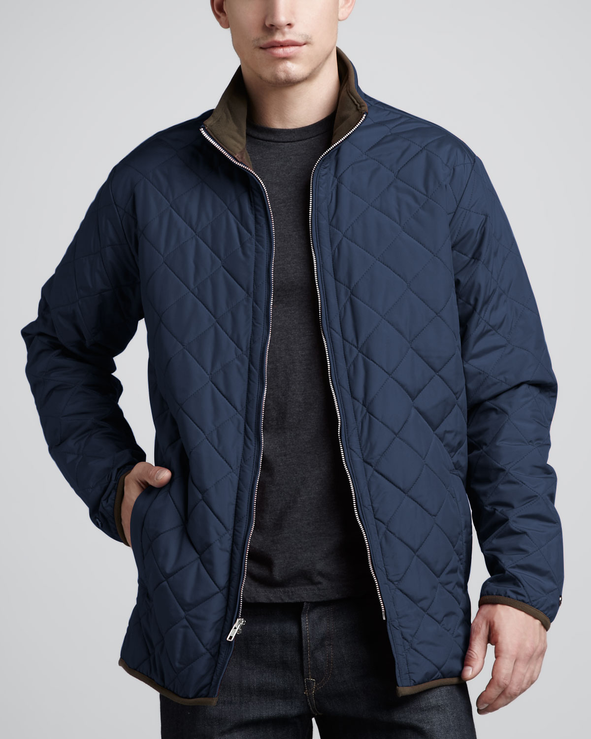 Peter millar Chesapeake Quilted Jacket Navy in Blue for Men | Lyst