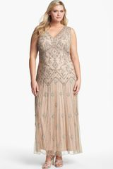 Pisarro Nights Beaded Mesh Gown - Lyst