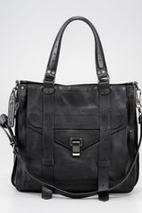 Proenza Schouler Ps1 Leather Tote Bag Black - Lyst