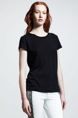 Rag & Bone Cotton Tee Black - Lyst