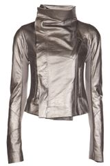 Rick Owens Leather Biker Jacket - Lyst