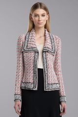St. John Collection Elizabeth Tweed Jacket Shocking Pink - Lyst